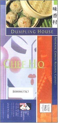 A page from the menu of the Chef Ho restaurant in New York
